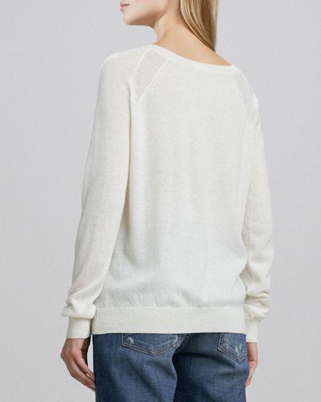 Winter White Cashmere Sweater Cashmere Sweater in White