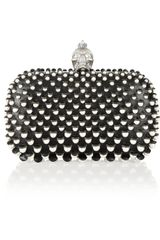Alexander McQueen The Skull Faux Pearlembellished Leather Box Clutch - Lyst