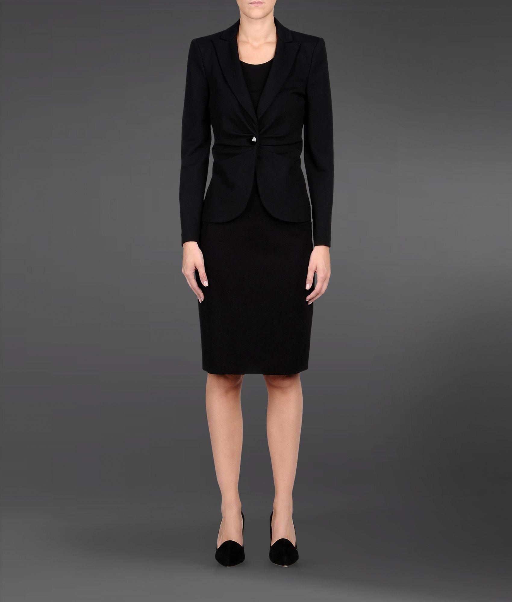 Lyst - Armani Womens Suit in Black