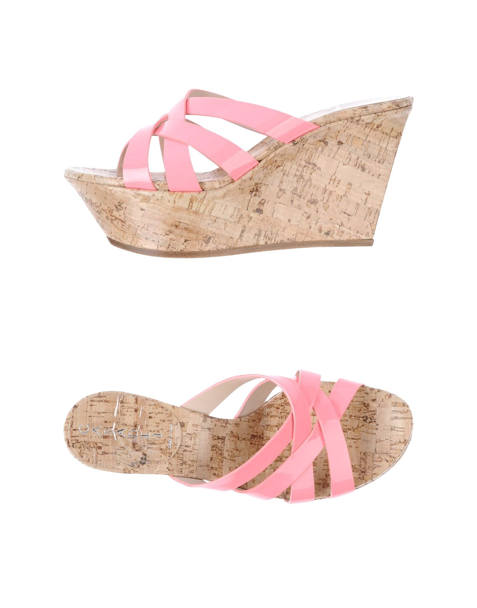 casadei wedge sandal in pink light pink lyst