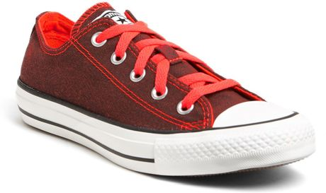 Converse Chuck Taylor All Star Sneaker in Red (Dark Fire Coral) - Lyst