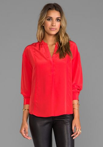 Elizabeth And James Pamela Blouse in Red - Lyst