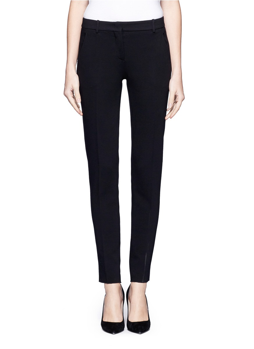 Lyst Emilio Pucci Slim Fit Cropped Suit Pants In Black