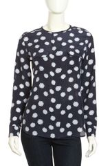 Equipment Lynn Daisy-print Silk Blouse Peacoat - Lyst