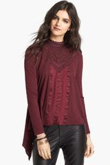 Free People Gibson Mixed Media Top - Lyst