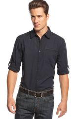 Inc International Concepts Long Sleeve Emery Stripe Shirt - Lyst