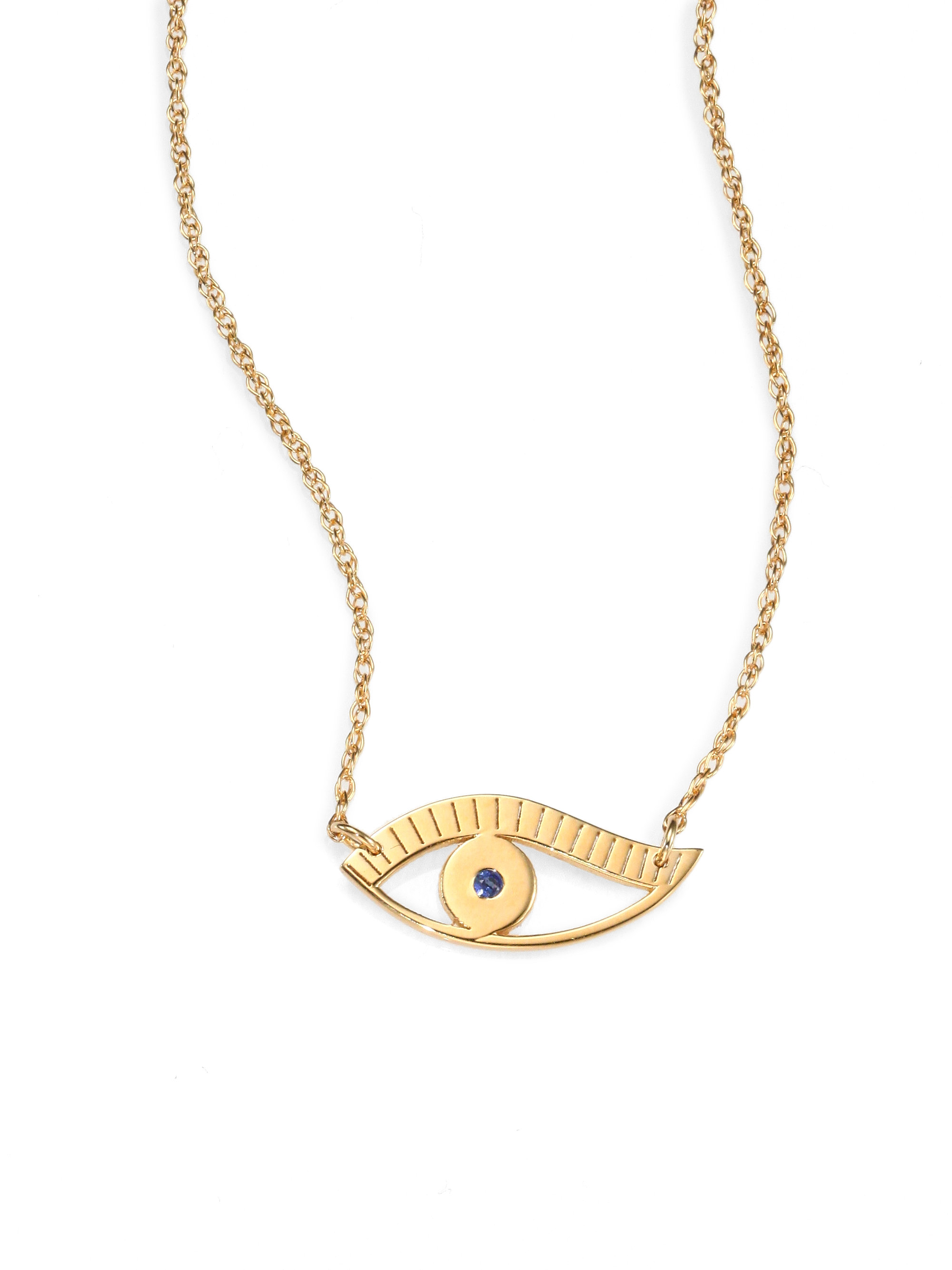 zeuner eye pendant necklace in yellow lyst
