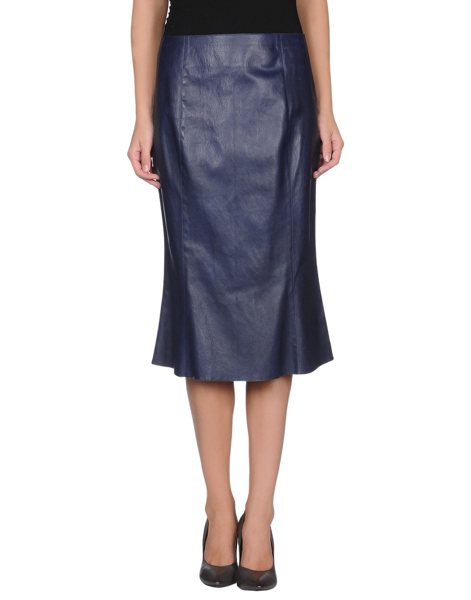 jitrois leather skirt in blue blue lyst