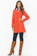 Lauren by Ralph Lauren Stretchcotton Pea Coat - Lyst