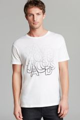 Marc By Marc Jacobs Faded Graphic Print Tee - Lyst