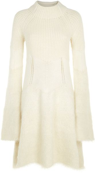 McQ by Alexander McQueen Mohair Knit Dress - Lyst