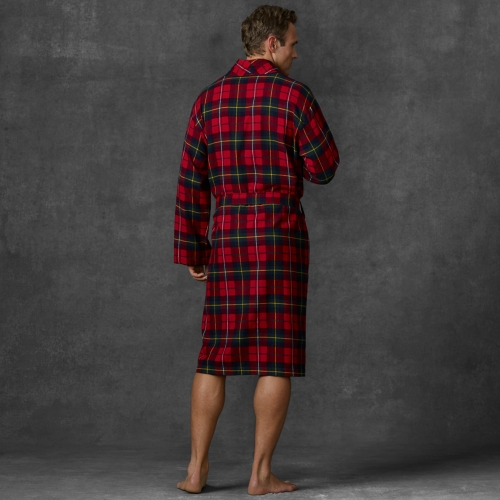 a few days away cheapest sale 2018 sneakers Polo Ralph Lauren Red Plaid Flannel Robe for men