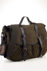 Polo Ralph Lauren Tweed Messenger Bag - Lyst