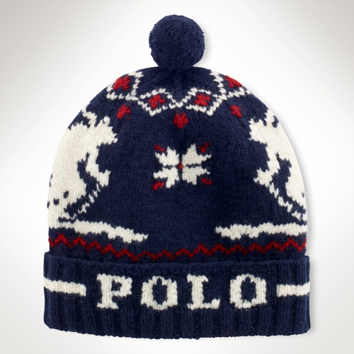 Lyst - Polo Ralph Lauren Lambs Wool Skier Hat in Blue for Men dde30bc0f6b