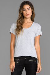 Rag & Bone The Pocket Tee in Gray - Lyst