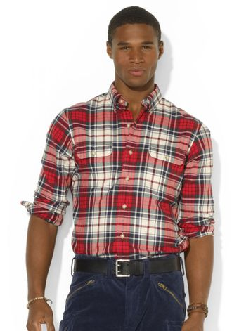 Ralph Lauren Longsleeve Plaid Twill Workshirt - Lyst