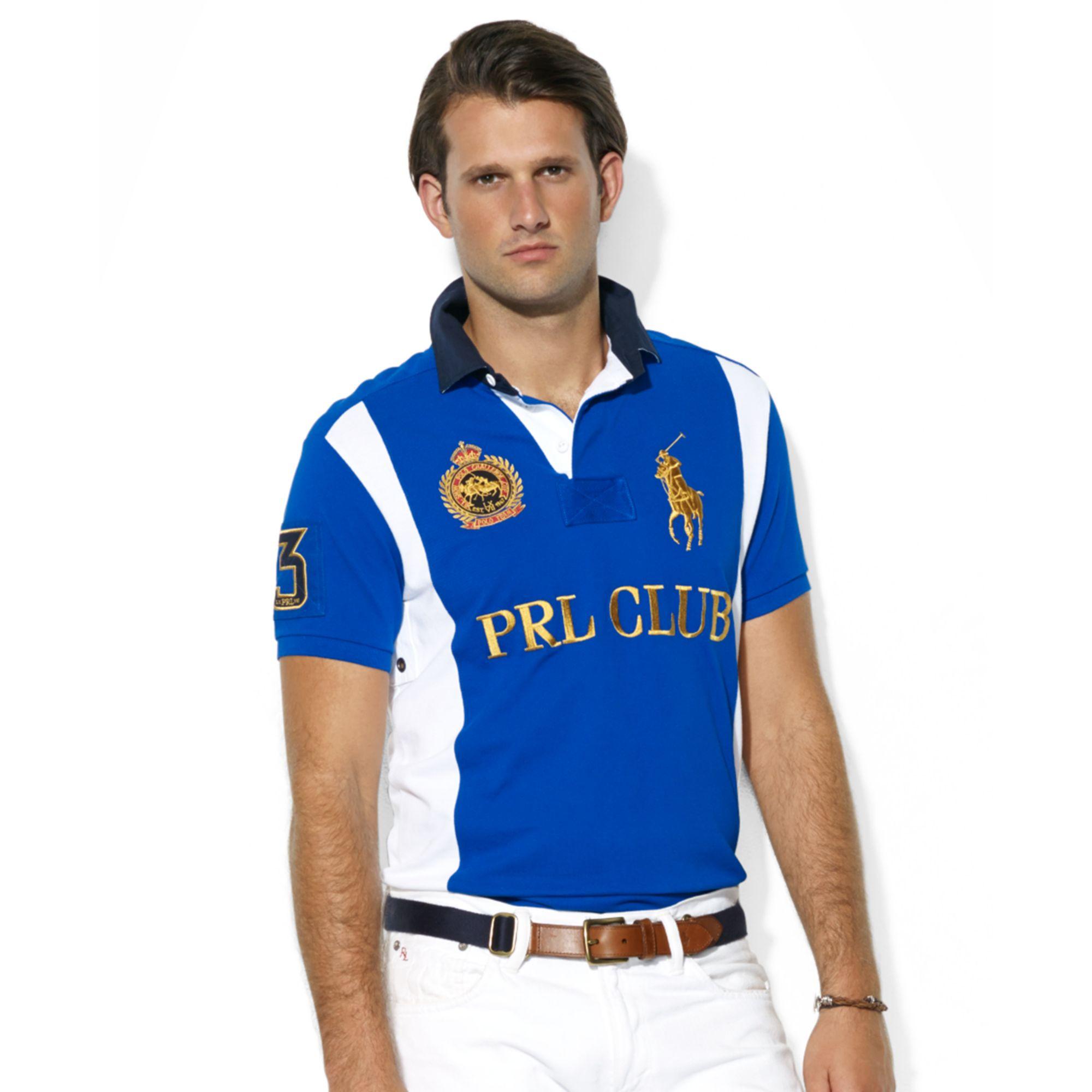 Ralph Lauren Custom Fit Prl Club Rugby Collar Short Sleeve