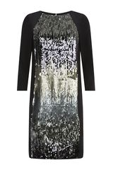 Schumacher Sequin Panel Shift Dress - Lyst