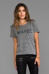 Textile Elizabeth And James Maybe Bowery Tee in Gray - Lyst