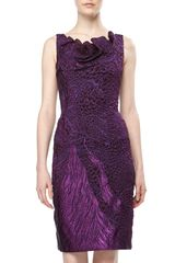 Theia Textured Organza Cocktail Dress Amethyst - Lyst
