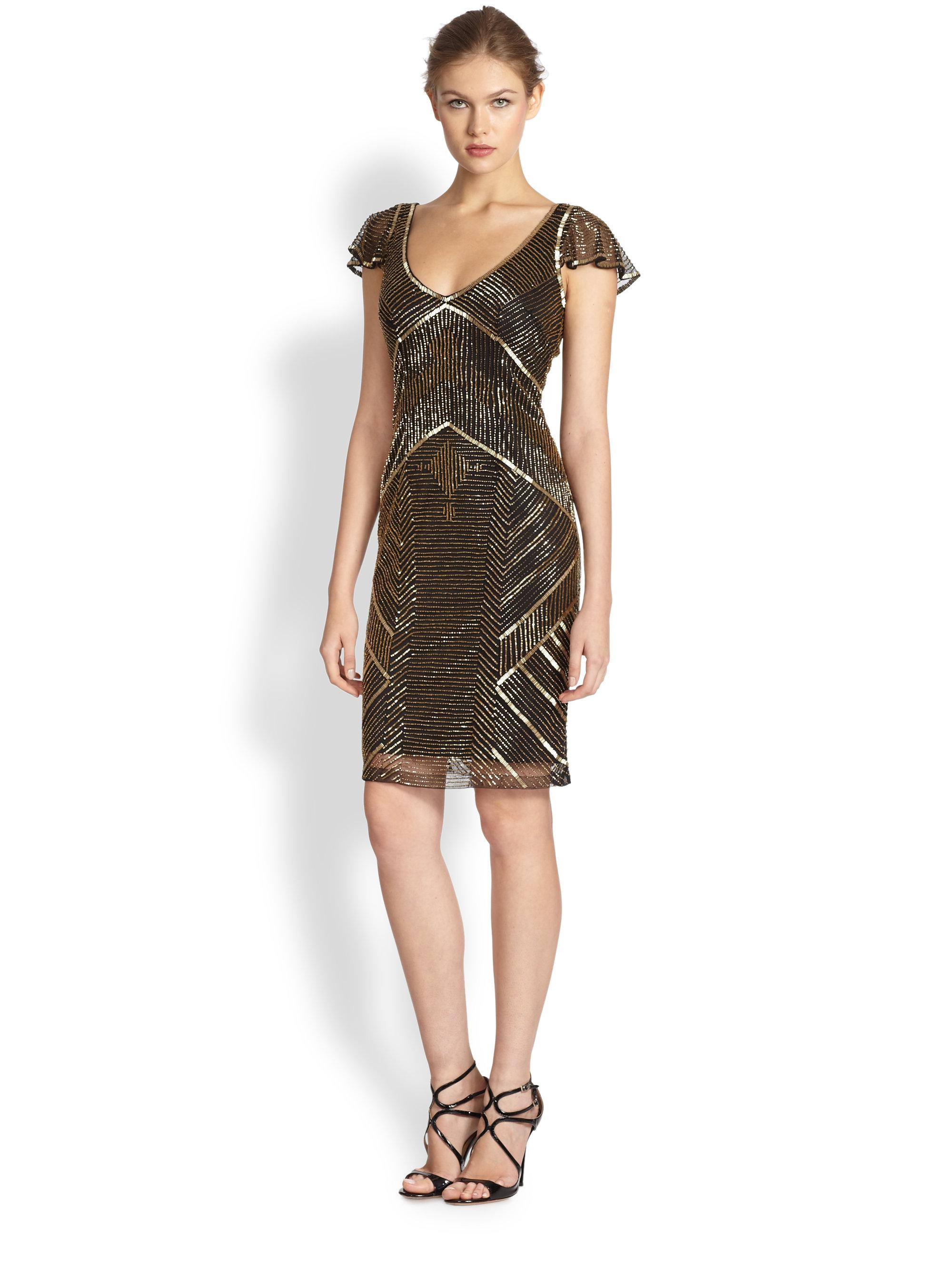Metallic cocktail dress pictures