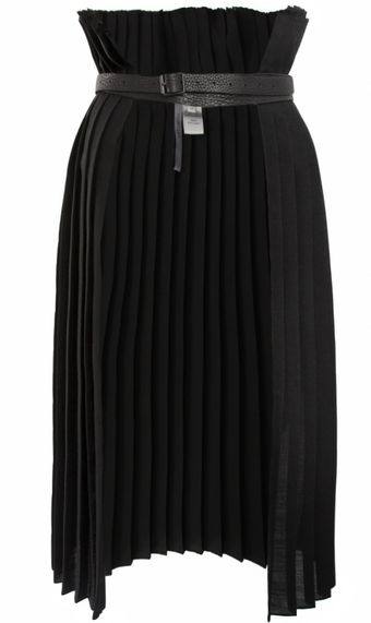 Todd Lynn Cutolo Pleated Skirt Black - Lyst