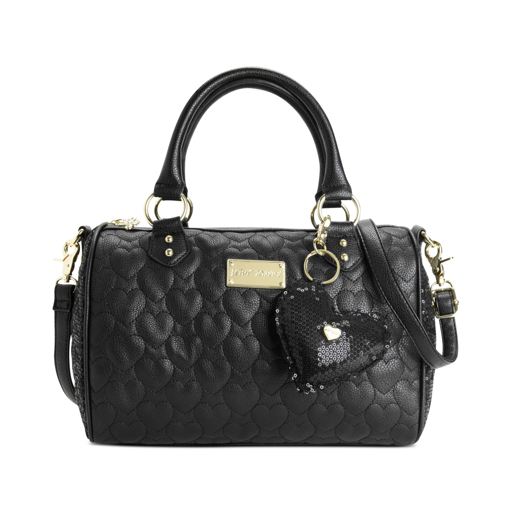 Betsey Johnson Holiday Satchel In Black Quilted Black Lyst