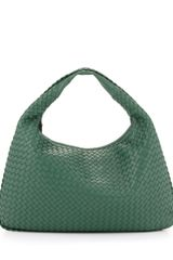 Bottega Veneta Intrecciato Woven Large Hobo Bag Mint Green - Lyst