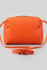 Bottega Veneta Veneta Small Crossbody Bag Orange - Lyst