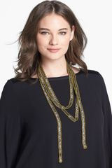 Eileen Fisher Embellished Necklace Scarf - Lyst