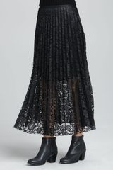 Free People Pretty Pleats Lace Maxi Skirt - Lyst
