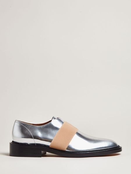 Givenchy Metallic Oxford Shoes In Silver | Lyst