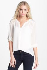 Hinge Lace Shoulder Peasant Top - Lyst