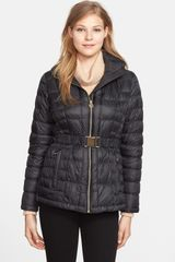 Michael by Michael Kors Belted Packable Down Jacket - Lyst