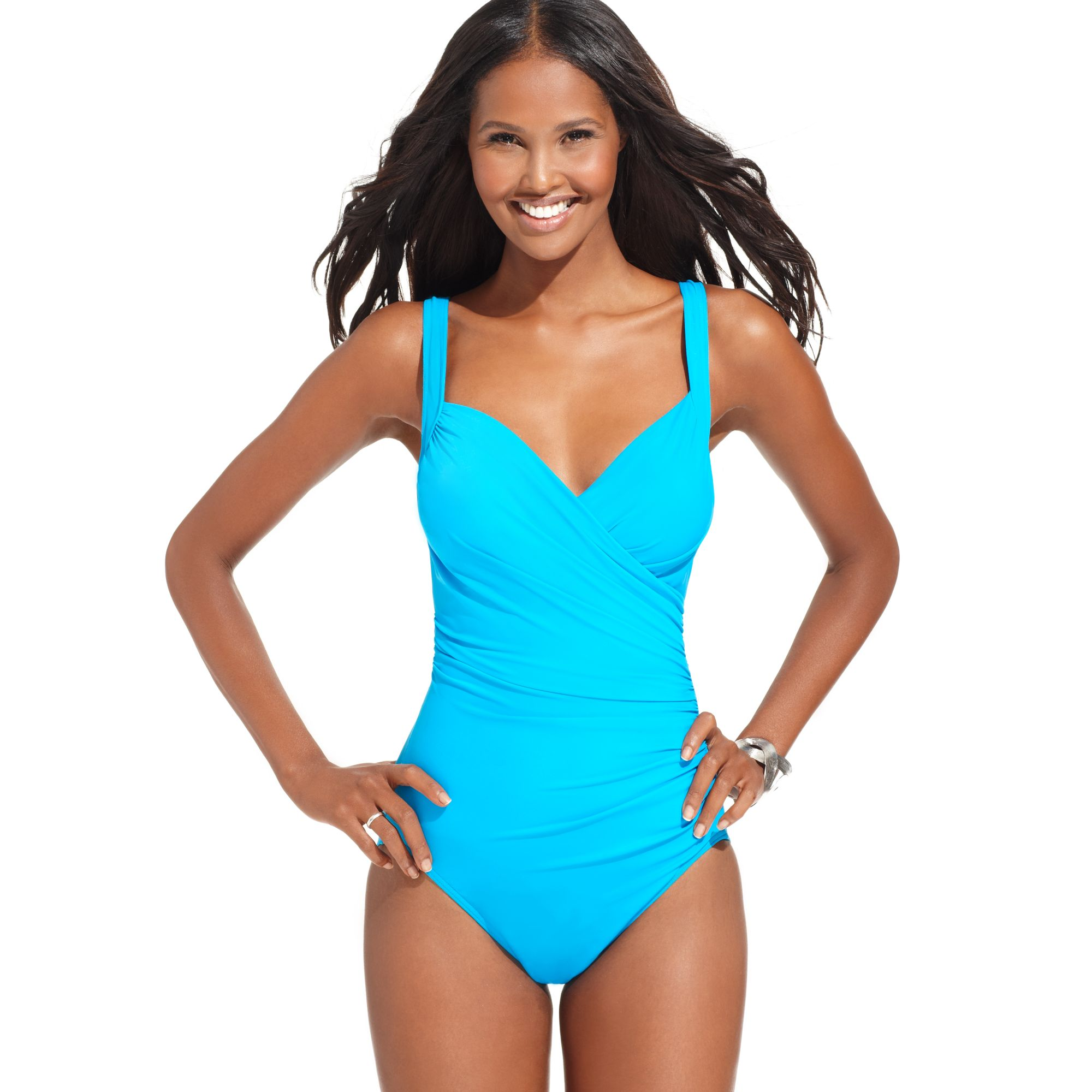 10bdd9c2964ce Miraclesuit Sanibel Ruched Tummy Control One Piece in Blue - Lyst