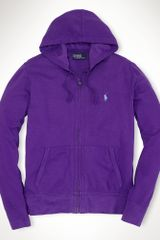 Polo Ralph Lauren Full-zip Cotton Mesh Hoodie - Lyst