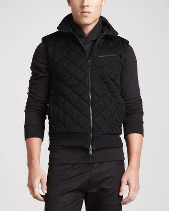 Ralph Lauren Black Label Quilted Jersey Vest - Lyst