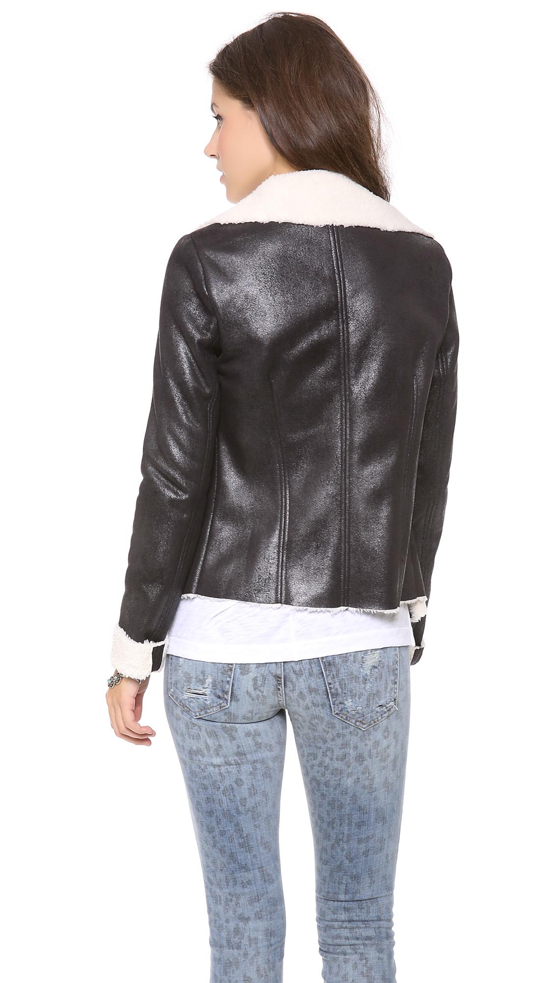 sw3 chesham aviator jacket in black lyst