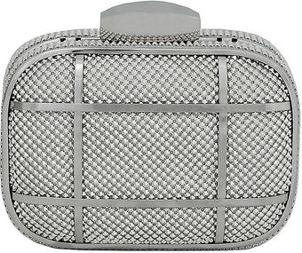 Whiting & Davis Wd Striped Aluminum Mesh Minaudiere - Lyst