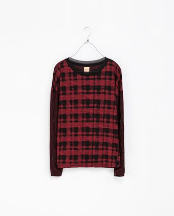 Zara Square Fit Sweater with Contrasting Sleeves - Lyst