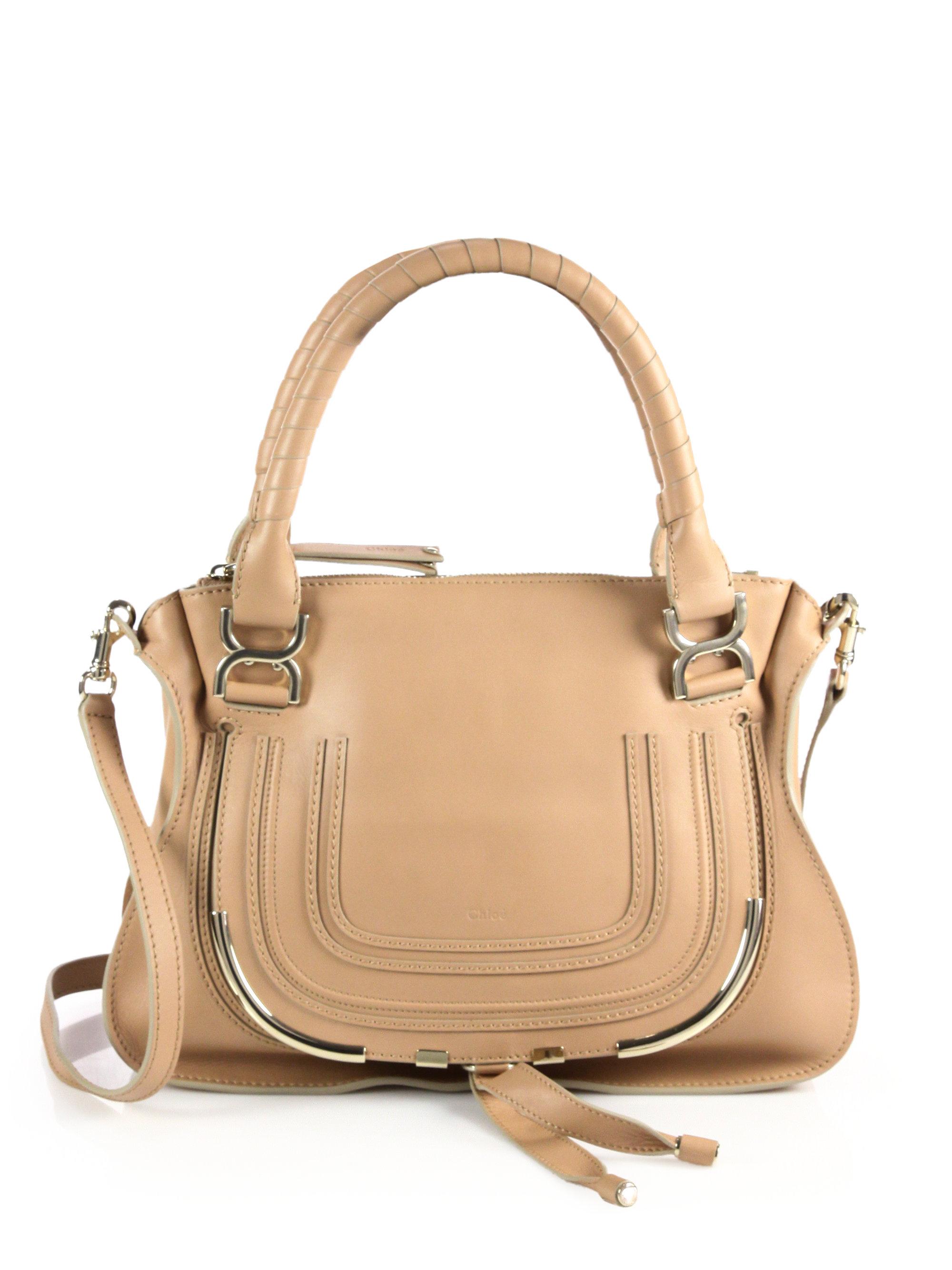 chlo marcie medium shoulder bag in brown wet sand lyst. Black Bedroom Furniture Sets. Home Design Ideas
