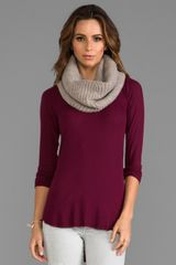 Demylee Cashmere Cable Eternity Scarf in Beige - Lyst
