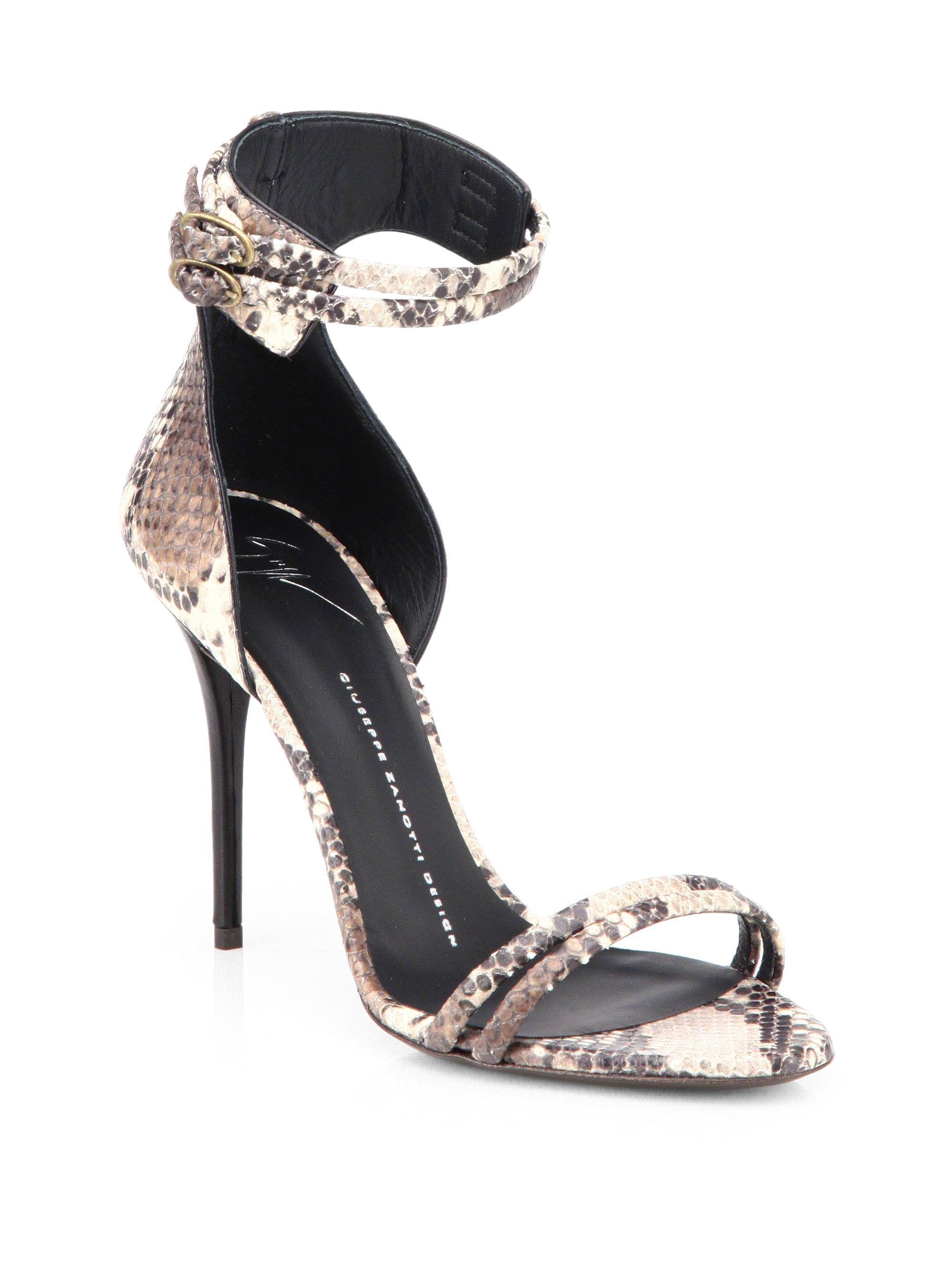 ef9e9ccb81bb0 Lyst - Giuseppe Zanotti Python Ankle Strap Sandals