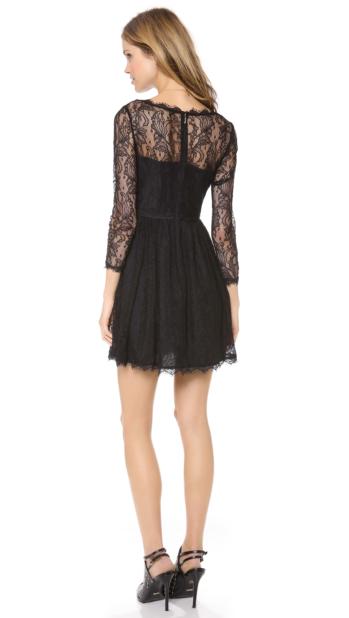 Juicy couture green lace dress