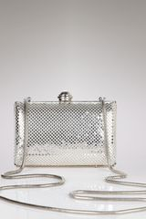 La Regale Hard Body Mesh Clutch - Lyst