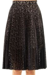 Lover Nancy Lace Pleated Skirt - Lyst