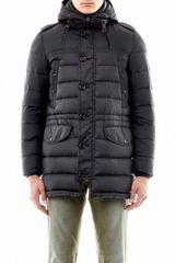 Moncler Rhone Hooded Down Jacket - Lyst