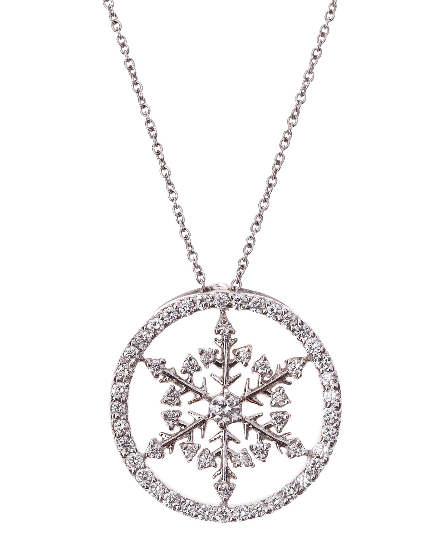 Lyst Roberto Coin Diamond Pave Snowflake Pendant