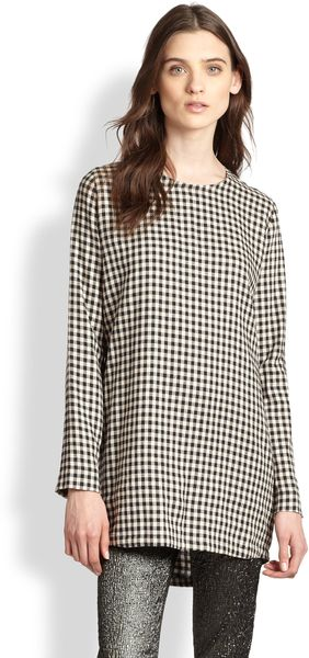 Roseanna Linencotton Gingham Check Tunic - Lyst