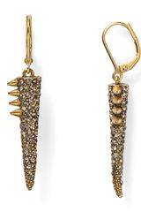 Sam Edelman Pave Spike Drop Earrings - Lyst